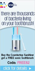 Buy the Countertop UV Sanitizer and get a free Slim Sonic Toothbrush